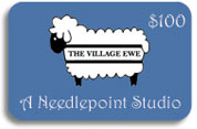 needlepoint gift card