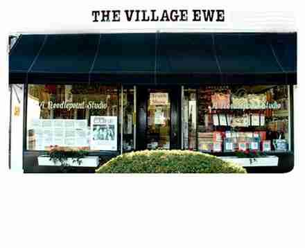 Needlepoint studio, full service, over 50 designers, The Village Ewe